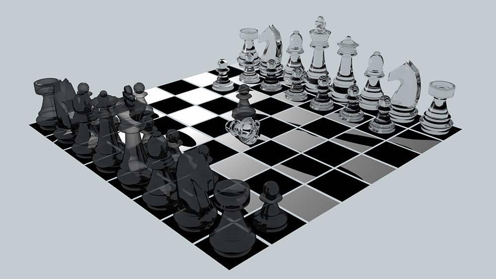 trabajo 3d tablero ajedrez