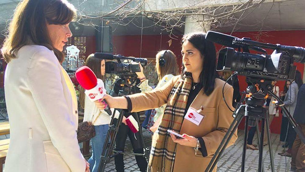 alumnas entrevista madrid woman week 2019 master reporterismo tv