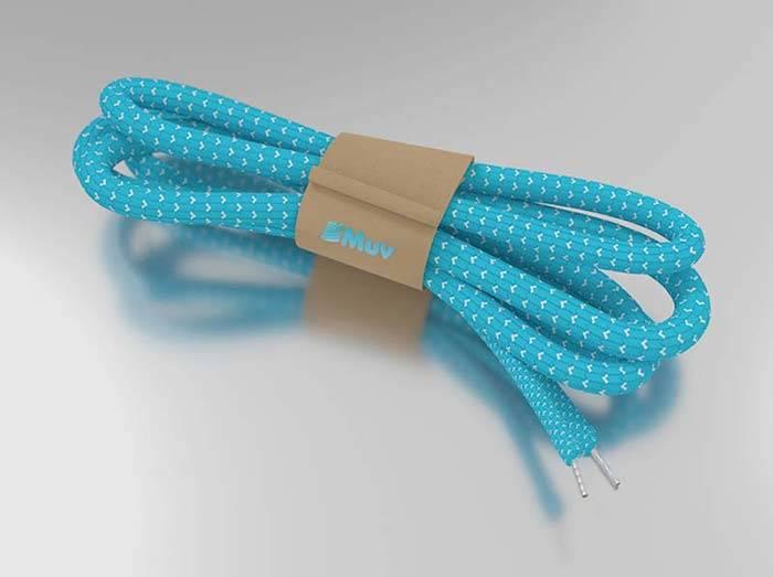 Diseño 3D cordones zapatillas Las Mujeres Nos Movemos